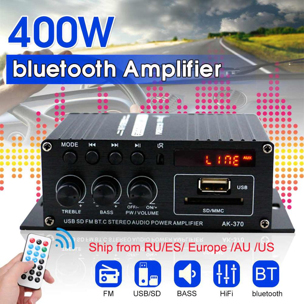 Audio amplifier with bluetooth for cars