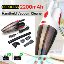 Load image into Gallery viewer, Car Vacuum Cleaner Portable Handheld Cordless/Car Plug 120W 12V 5000PA