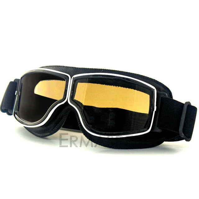 Safety Windproof Motorcycle Glasses Retro Motocross Goggles Eye Protection