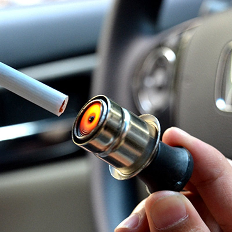 12V Metal Universal Auto Car Windproof flameless Cigarette Lighter