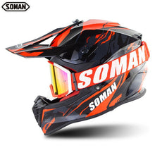 Load image into Gallery viewer, SOMAN Dirt Bike Helmet Motocross ECE Dh Helmets Cool Goggles
