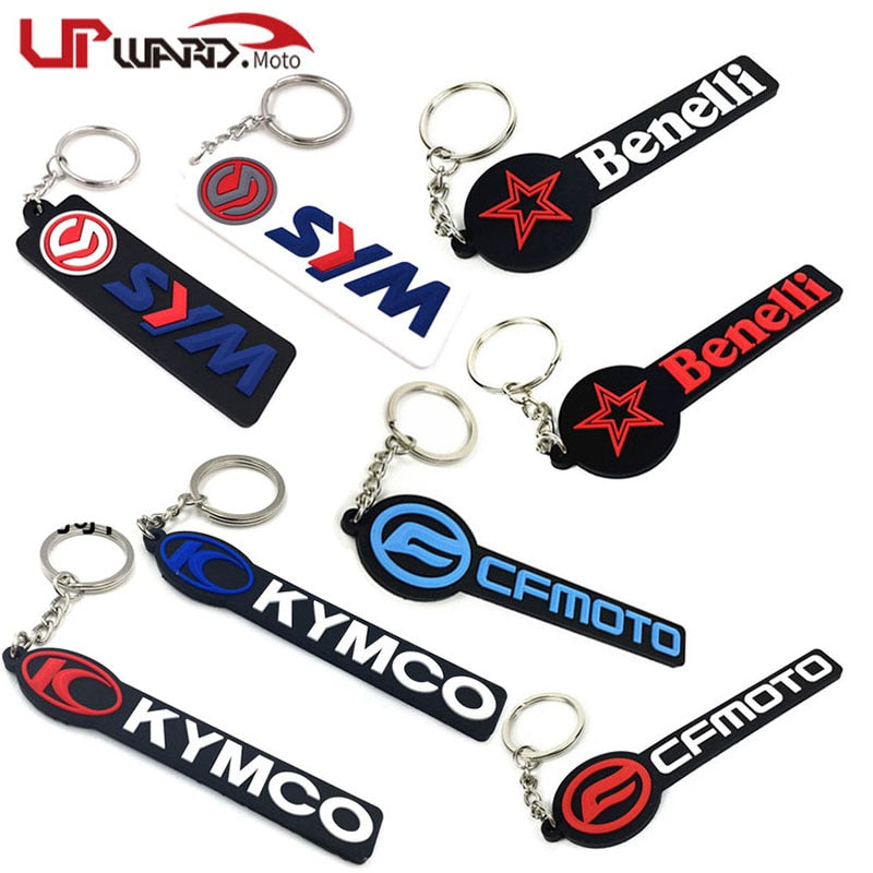 Motorcycle Cool Rubber Keychain