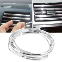 Load image into Gallery viewer, Newest 4m U Shape DIY Car-styling Interior Air Vent Grille Switch Rim Chrome Trims