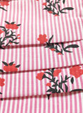 Flowerlets / red stripes / organic cotton / washable / adjustable