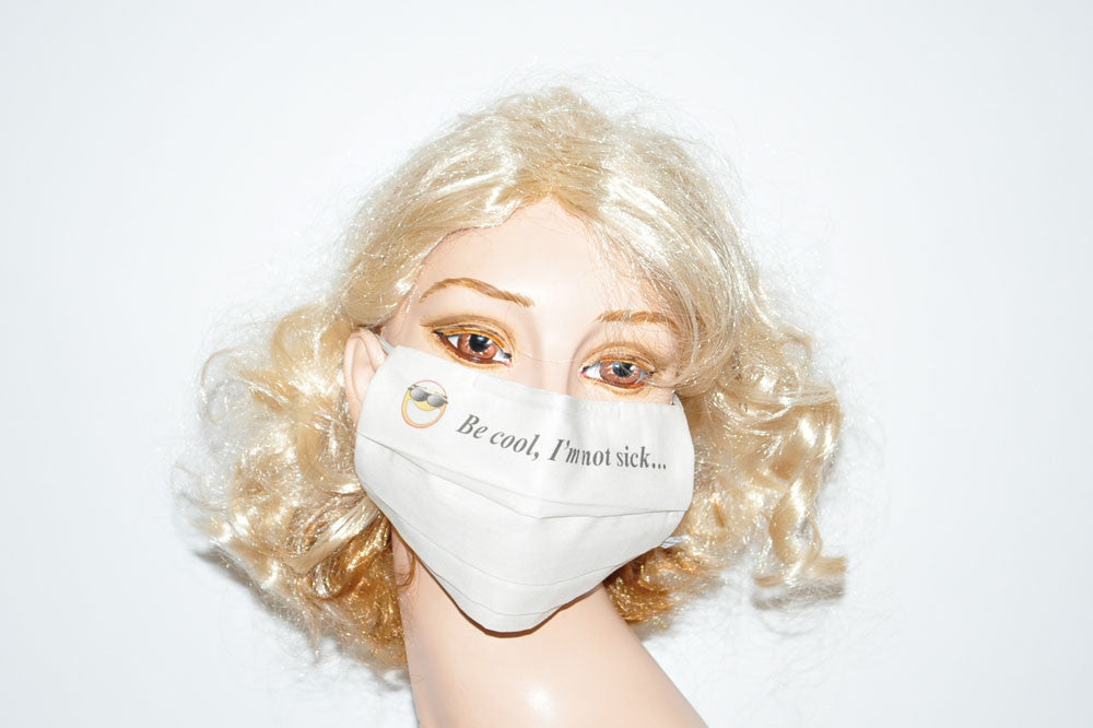 Emoticon - Be Cool I am Not Sick - Beige Mask