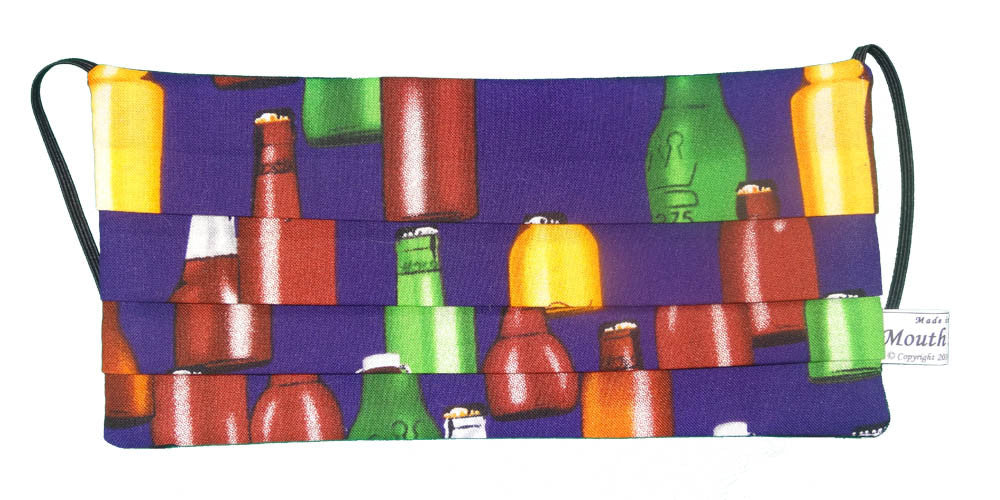 Beer Bottles Purple Surgical Mask