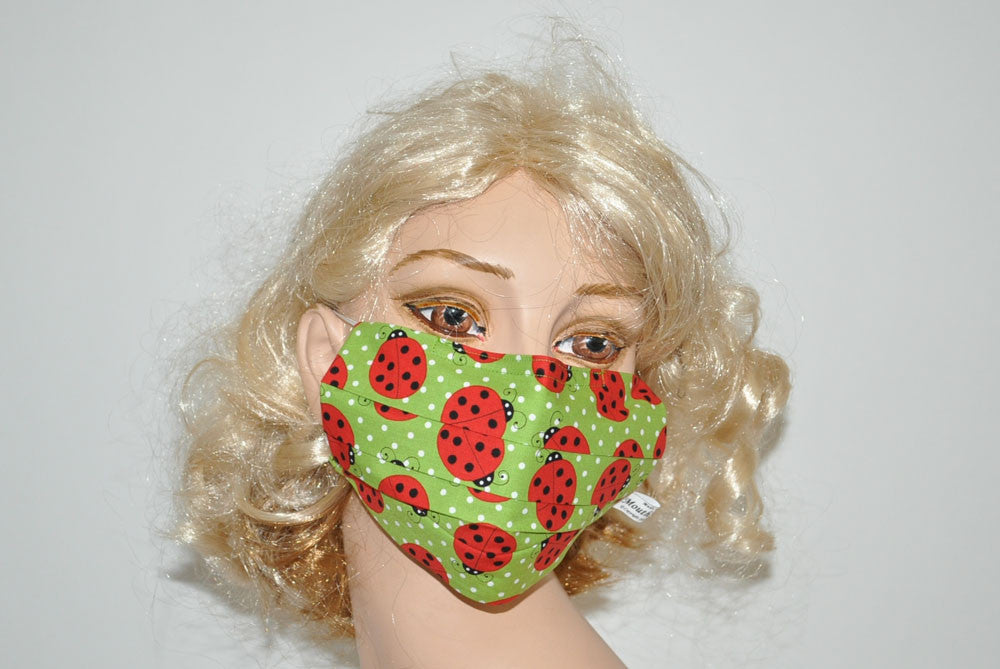 Big Ladybugs Green Mask