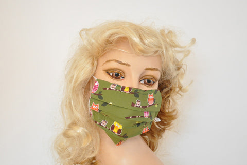 Owl and Birds Lover Surgical face mask, Flu mask, Hospital mask, Dog groomer mask, mask with theme