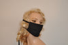 Black face mask with cotton strings for Men and Women , Woodworking, Hospitals,..