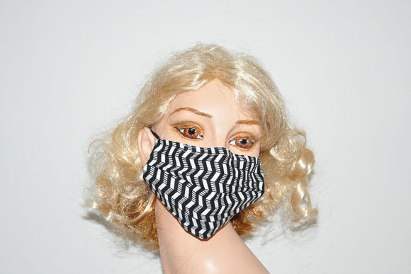 ZigZag Black White Mask