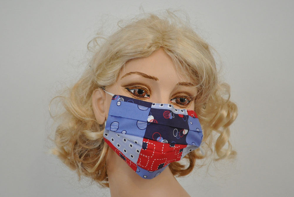 Blue Red Panels Mask