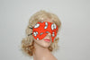 Cartoon Eyes Orange Sleeping Eye Mask