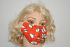 Cartoon Eyes Orange Fleece Cotton Mask