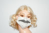 Chevron Style Mustache for Movember Beige Mask