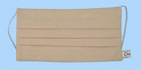 Plain Beige Mask, beige surgical mask, cotton lined, washable and reusable, conservative mask