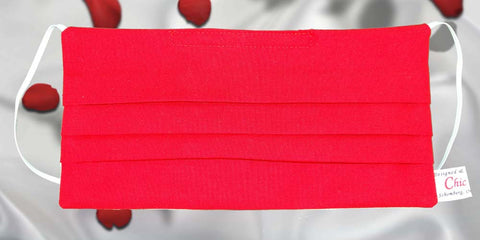 Red face Mask, organic cotton mask, lipstick red face mask