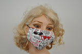 Colorful Bras White Mask