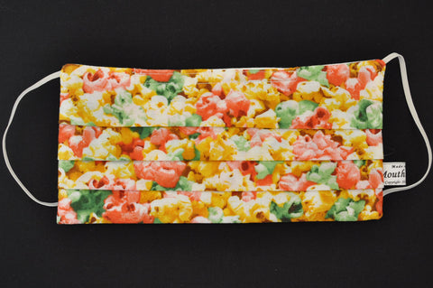 Colorful Popcorn Beige Organic Cotton Face Mask