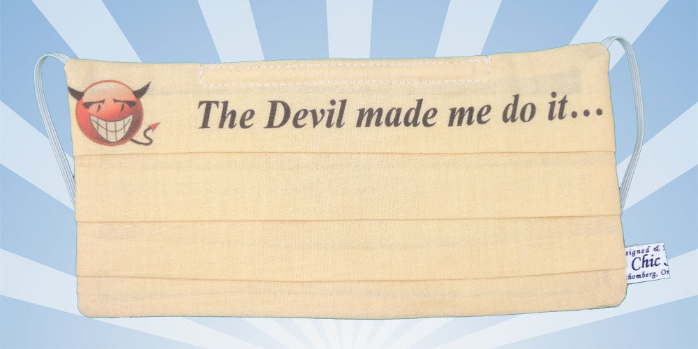 Emoji - The Devil Made Me Do It - Surgical Mask