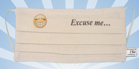 Emoji - Excuse Me - Beige Mask
