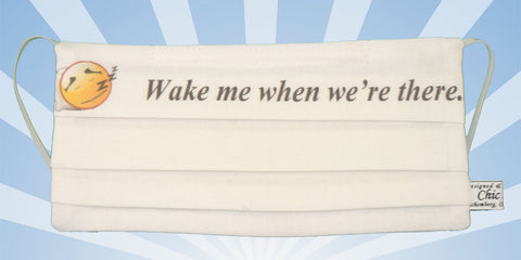 Emoji - Wake Me Up When We Are There - White Mask