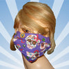 Floral Skulls Purple Mask