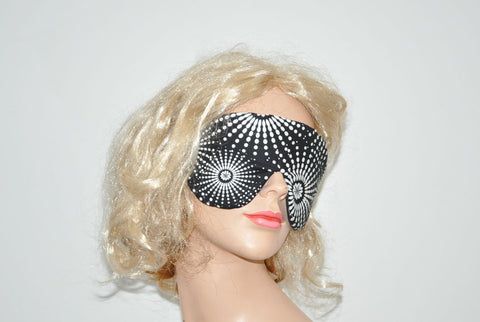Floral Star Burst Black Sleeping Eye Mask