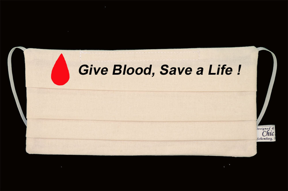 Give Blood Save a Life Cream White Mask