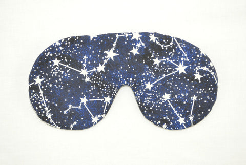 Glow-in-the-Dark Star Constellations Blue Sleeping Eye Mask