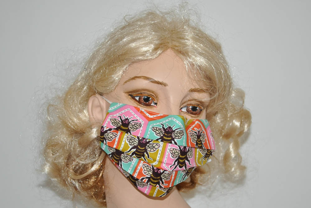 Honey Bee Honeycomb Pattern Mask