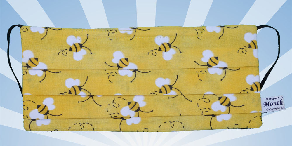 Honey Bees Yellow Surgical Face Mask