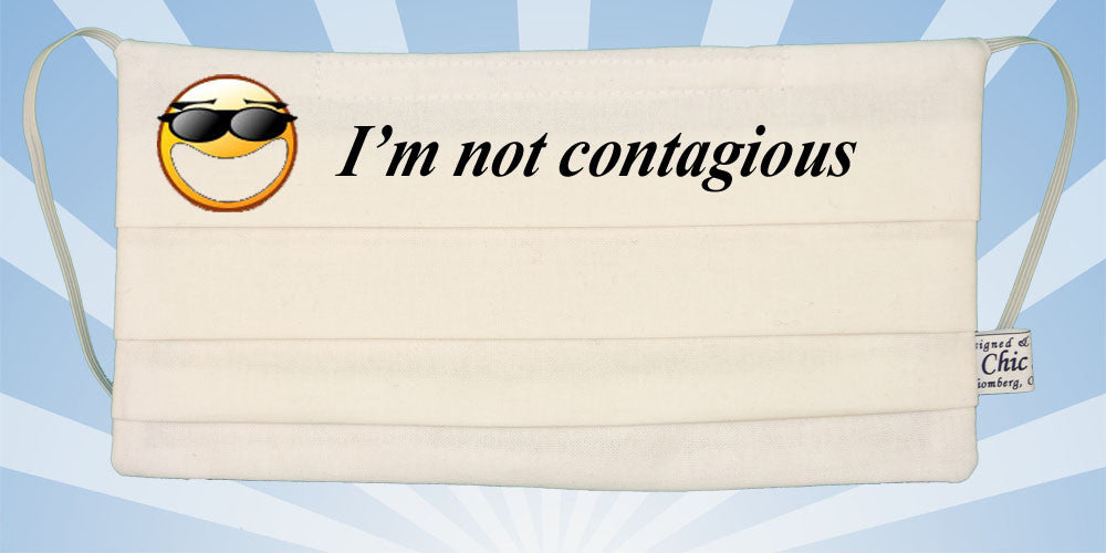 Emoticon - I Am Not Contagious - White Surgical Mask ...