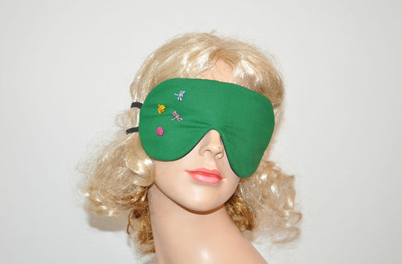 Insect Buttons Green Sleeping Eye Mask