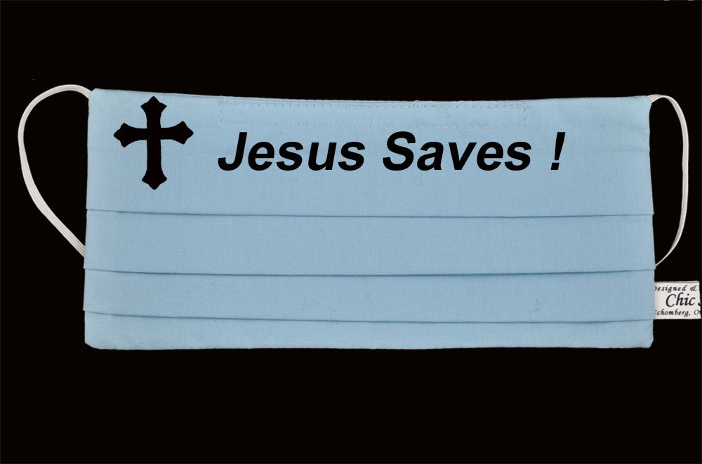 Jesus Saves Ocean Blue Mask