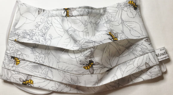 Honey Bee - Organic cotton face mask - Adjustable