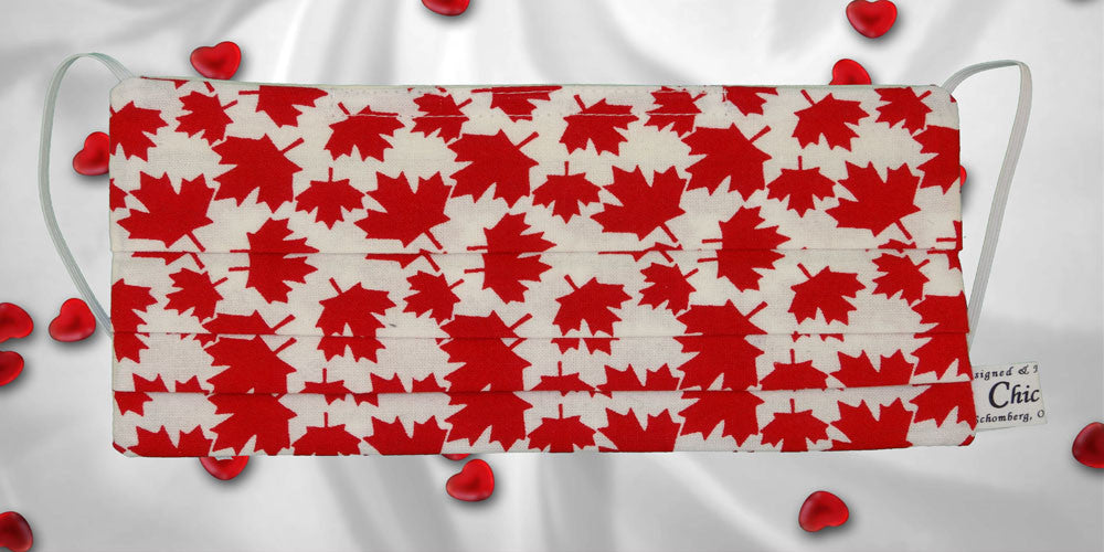 Red Maple Leaf White Mask
