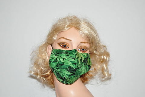 Marijuana Cannabis Mask for Man and Woman, cotton face mask, Dust and Dirt mask
