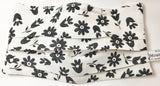 Floral mask / black flowers on white backgroun