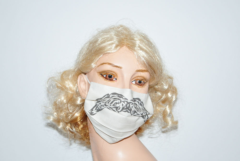 Mexican Style Mustache for Movember Beige Mask