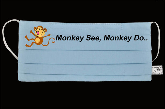 Monkey See, Monkey Do Ocean Blue Mask