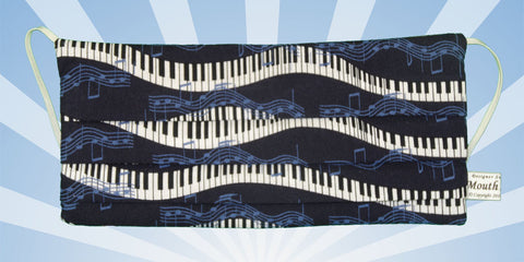 Music Piano Keys Music Notes Blue Mask