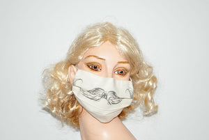 Natural Style Mustache for Movember Beige Mask