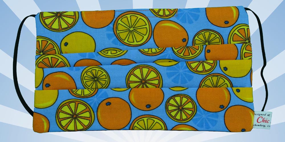 Oranges Limes Blue Mask