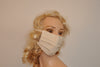 Organic Flu mask, organic unbleached cotton face mask, Man and Woman face mask, Dust mask, Surgical face mask