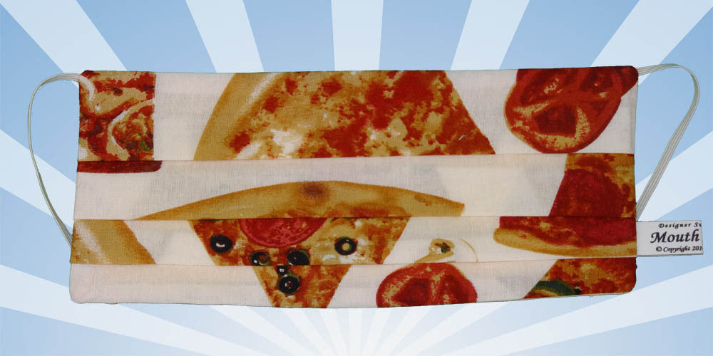 Pizza Slices White Mask