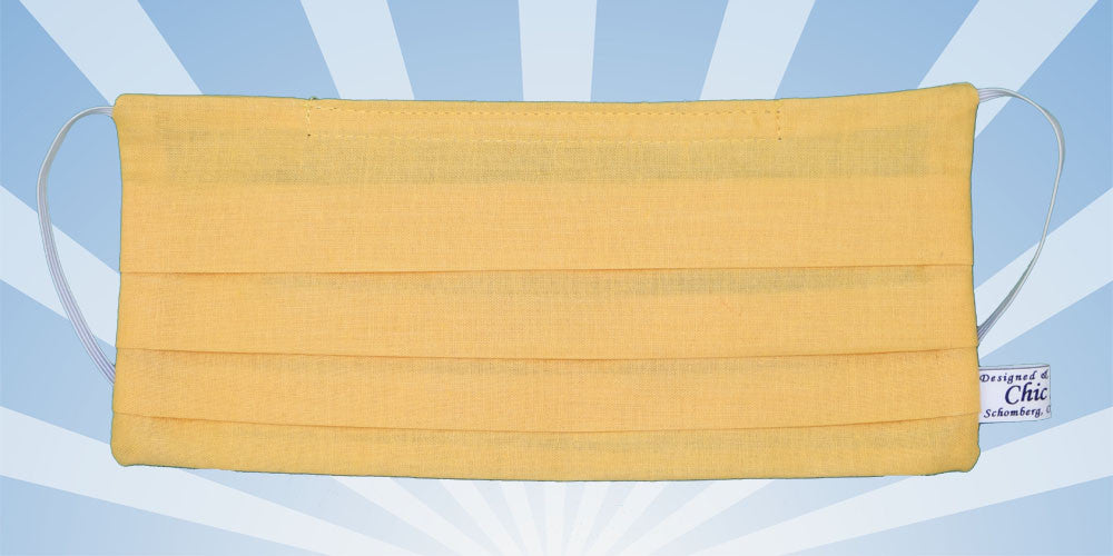 Plain Yellow Surgical Mask