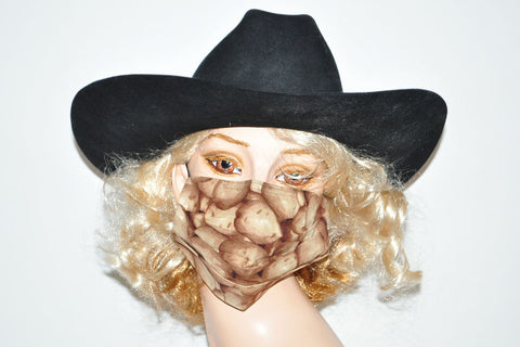 Brown Potatoes Farmers Mask