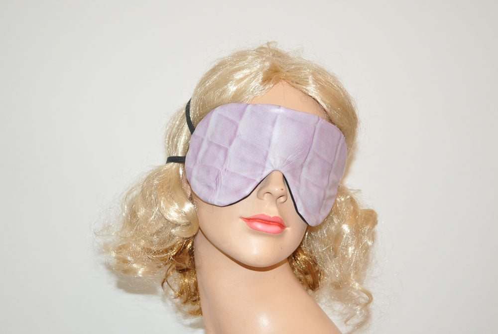 Purple Leather Snake Skin Like Sleeping Eye Mask