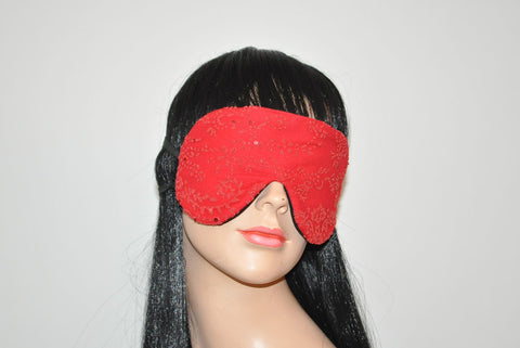 Red Floral Lace Sleeping Eye Mask