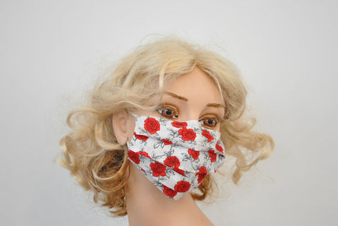 Red Roses White Mask